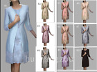 Blue Grey Mother of the Bride Dresses with Jacket Wedding Guest Gowns Plus Size