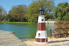 Amish Handcrafted - Poly Garden Lighthouse - Montauk - Size & Lighting Options