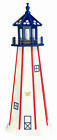 Amish Made Wood Garden Lighthouse - Patriotic Standard - Size & Lighting Options