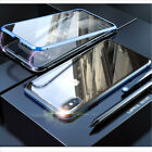For Samsung S10/S10Plus/S9/Note8/9 Magnetic Case Metal Double Sided Glass Cover