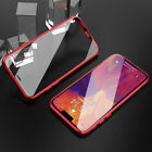 For Samsung S10/S10Plus/S9/Note 10+ Magnetic Case Metal Double Sided Glass Cover