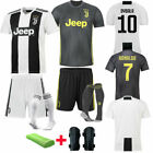 2019 Football Soccer Kids Jersey Kits Boys Girls Short Sleeve Suit 3-14Y+Socks