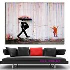 Banksy,Colorful Rain,Rainbow,Man Canvas HD Prints Painting Wall Art Home Decor