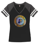 Women's Indiana Pacers Bling Basketball Ladies Bling V-neck Shirt S-4XL on eBay