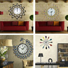 Wall Clock Cartoon Vintage Style Mute Creative Wall Clock For Home Kitchen US ST