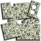 LUCKY DOLLARS MONEY ATTRACTION PATTERN LIGHT SWITCH OUTLET WALL PLATE ROOM DECOR