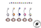 Chicago Bears Silver Belly Button Navel Ring - Customize Gem Color - NEW on eBay