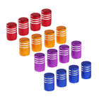 4x Many Color Anodized Aluminum Round Tire Valve Stem Caps For Car $1.32 CAD on eBay