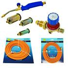 Propane Butane Gas Torch Burner Blow Kit Plumbers Roofers Roofing Brazing Set