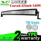 TRI ROW 7D 22/32/42/52inch Curved LED Work Light Bar For off road Truck Car Jeep