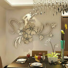 Removable Wall 3d Sticker Mirror Flower Art Acrylic Mural Decal Home Room Decor