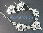 Maria Belen ~Dainty~Delicate~Doves of Love~925 Necklace/Earring SET~Great Gift!