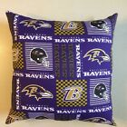 INCREDIBLE 15 x 15 NFL FOOTBALL BALTIMORE RAVENS COMPLETE PILLOWS - 3 STYLES on eBay