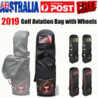 Golf Bag Premium Travel Cover On Wheels Padded Top Flight Air Protect Carry Case