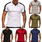 Men's Sports Polo T-Shirt Short Sleeve Summer Casual Slim Muscle Tops Shirts Tee image