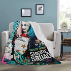 Custom Harley Quinn Lightweight Super Soft Fleece Bed Throw Blanket image