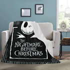 Custom Throw Blanket Nightmare Before Christmas Micro Fleece Blanket image