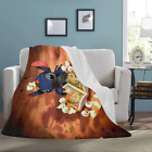 Best selling Custom Lilo and Stitch Ultra-Soft Micro Fleece Throw Blanket image