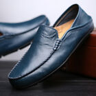 Mens Casual Shoes Fashion Driving Boat Shoes Slip On Loafers Cowhide Shoes