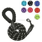 Large Reflective Heavy Duty Dog Training Lead Leash with Reflective Threads
