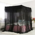 Bedding 4 Corners Post Insect Bed Canopy Black Netting Curtain Mosquito Net New image