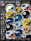 6 Pack of Officially Licensed NFL Helmet Stickers - Pick Your Favorite Team! on eBay
