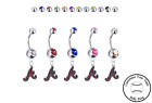 Atlanta Braves Silver Belly Button Navel Ring - Customize Gem Color - NEW on Ebay