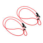 2x Kayak Canoe Paddle Leash Fishing Rod Tie Tether Holder Cord Clip Lanyard