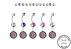 Chicago Cubs Silver Belly Button Navel Ring - Customize Gem Color - NEW on Ebay