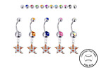 Houston Astros Style 2 Silver Belly Button Navel Ring - Customize Gem Color NEW on Ebay