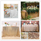 Внешний вид - Rectangle Sequin Glitter Tablecloth Sparkly Table Cloth Cover Wedding Party