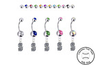 Seattle Mariners Style 2 Silver Belly Button Navel Ring Customize Gem Color NEW on Ebay