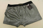 STRIPED BLACK GOLD SHINY SATIN CLASSIC DESIGN BOXER SHORTS by PJW Made in France