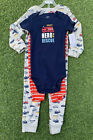 "Carter's Boy 3 Pc Set Fire Trucks ""Hero to the Rescue"" Bodysuit Jumpsuit + Pants"