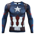 Avengers Endgame Captain America T-Shirts Cosplay Advanced Tech Compression Tee image