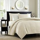 Soft Ivory Quilted Coverlet Set AND Decorative Pillow Shams - ALL SIZES