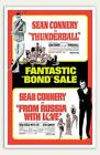 """Thunderball and From Russia With Love - 11"""" x 17""""  Movie Poster $11.99 USD on eBay"""