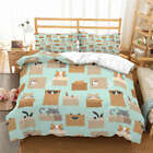 Box Gray Mouse 3D Quilt Duvet Doona Cover Set Single Double Queen King Print image