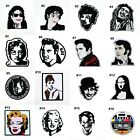 Retro Hippie Old School Time famous People Popular Music genre DIY Iron on patch