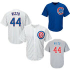 New Men's Chicago Cubs #44 Anthony Rizzo Blue/Gray/White Jersey Size M-3XL on Ebay