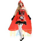 Litter Red Riding Hood Ladies Fancy Dress  Adult Sexy Halloween Costume New