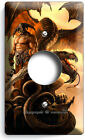 Dragon Viking Warrior Skulls Light Switch Outlet Wall Plate Boys Room Home Decor photo
