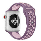 Replacement Silicone Band for Apple Watch Nike+ 38/40mm 42/44mm Series 5 4 3 2 1