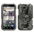 Two Piece Hard Snap on Design Protective Case for Motorola MB525 Defy