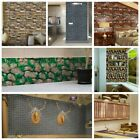 Retro 3D Wall Paper Rustic Brick Stone Self-adhesive Wall Sticker Home Decor US