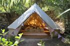 5M Canvas Bell Tent Waterproof Hunting Glamping Camping Tent Family Yurt Teepee