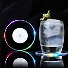 LED Color Light Bottle Cup Mat Pad Club Cocktail Party Bar Drinks Beer
