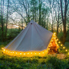 6M Canvas Bell Tent Canopy Awning Glamping Camping Tent Famliy Yurt Stove Jack