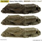 BROWN Tarped Covered Sheeted Model Road & Rail Loads,  Large N or Smaller HO OO