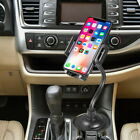 Universal 360° Rotatable Car Cup Holder Phone Mount with Flexible Goose Neck
